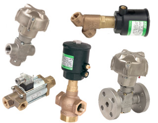 pneumatically controlled valves